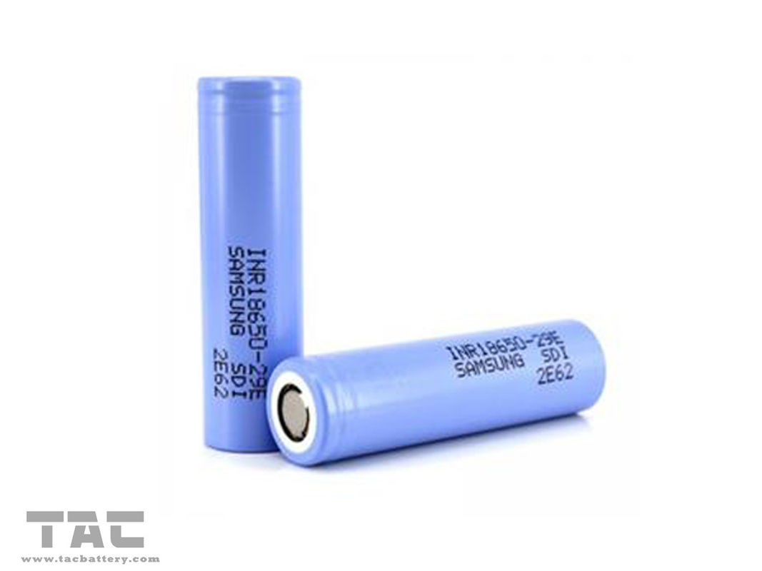 INR18650-29E 2900mAh 3.7V Samsung Rechargeable Li Ion Battery For Flashlight