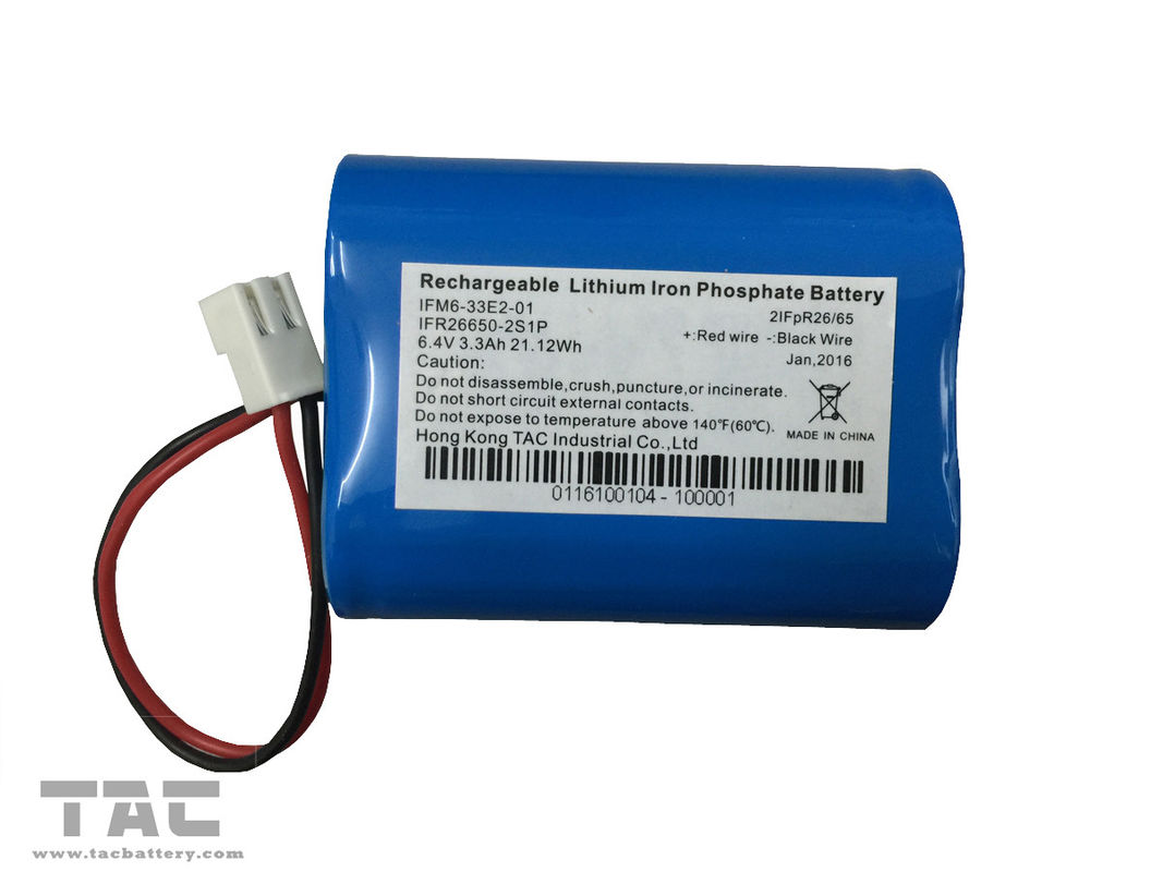 32650 3.2V LiFePO4 Battery Battery Pack  6.4V 5AH With BMS For Solar Power
