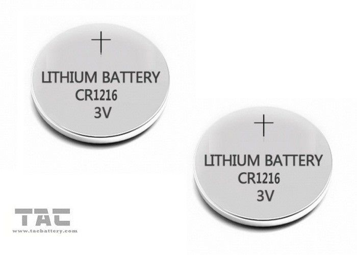 High energy  Primary Lithium Coin Cell Battery CR1216A 3.0V / 25mA for Clock