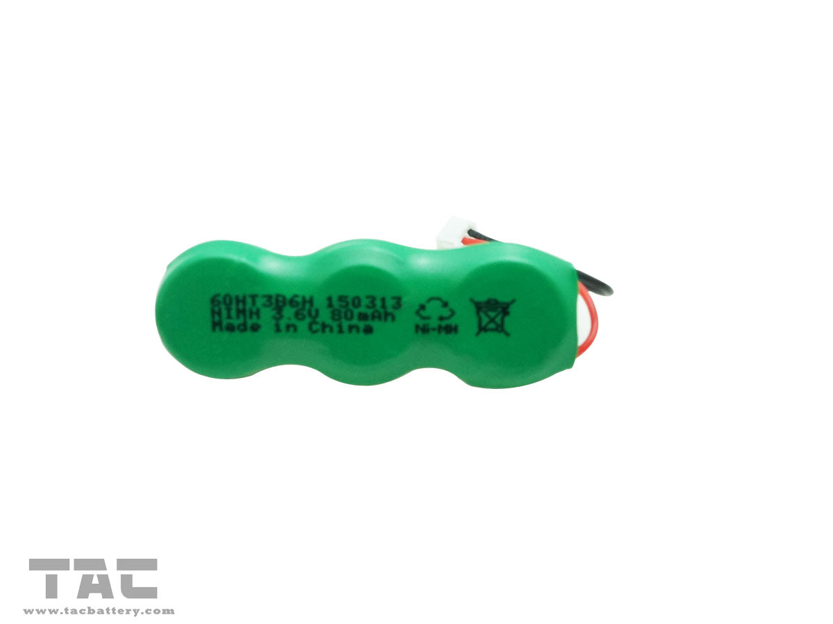 Green 3.6V Ni MH Battery High Temperature Type for Radar Detector
